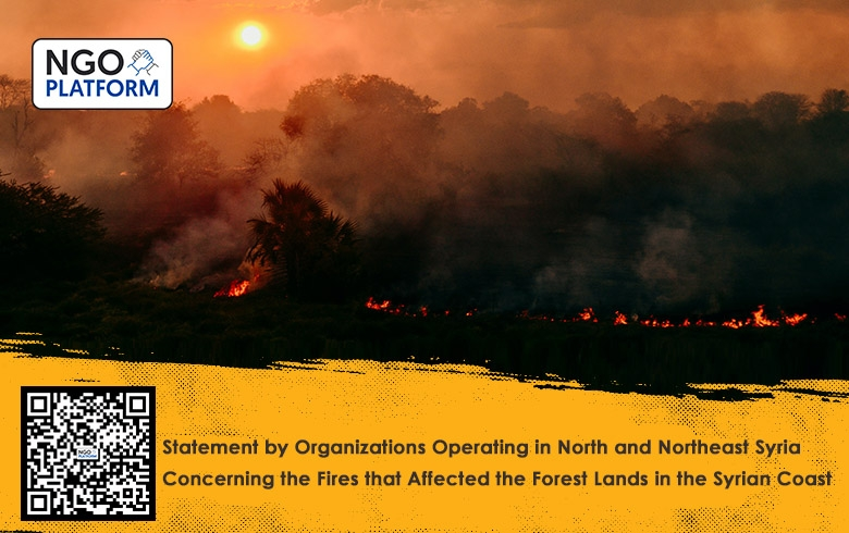 Statement by Organizations Operating in North and Northeast Syria Concerning the Fires that Affected the Forest Lands in the Syrian Coast